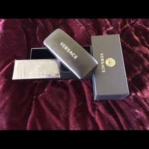 Authentic Versace box, case and cleaning cloth.
